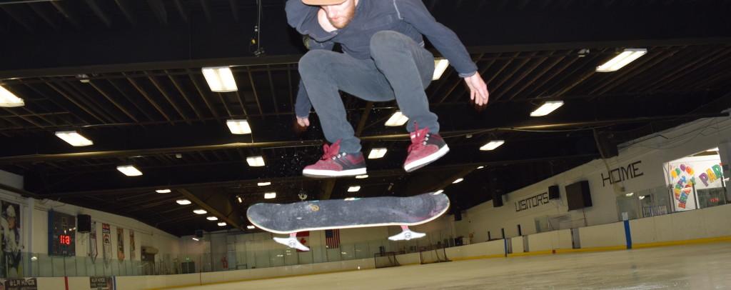 skateboarding on ice