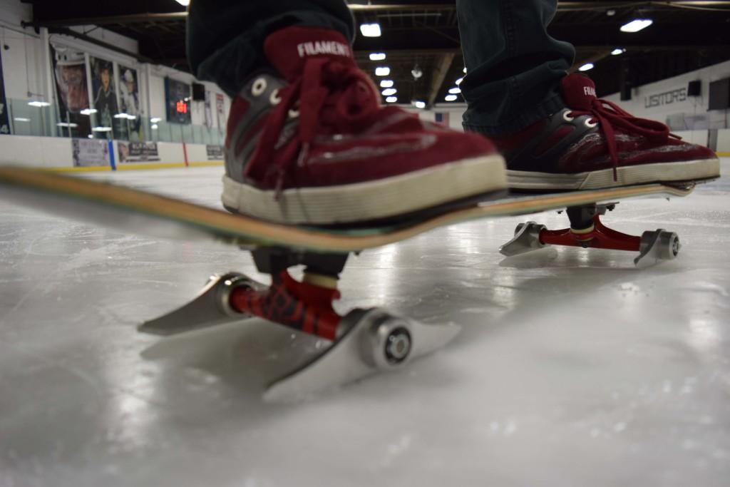 skateboard blading